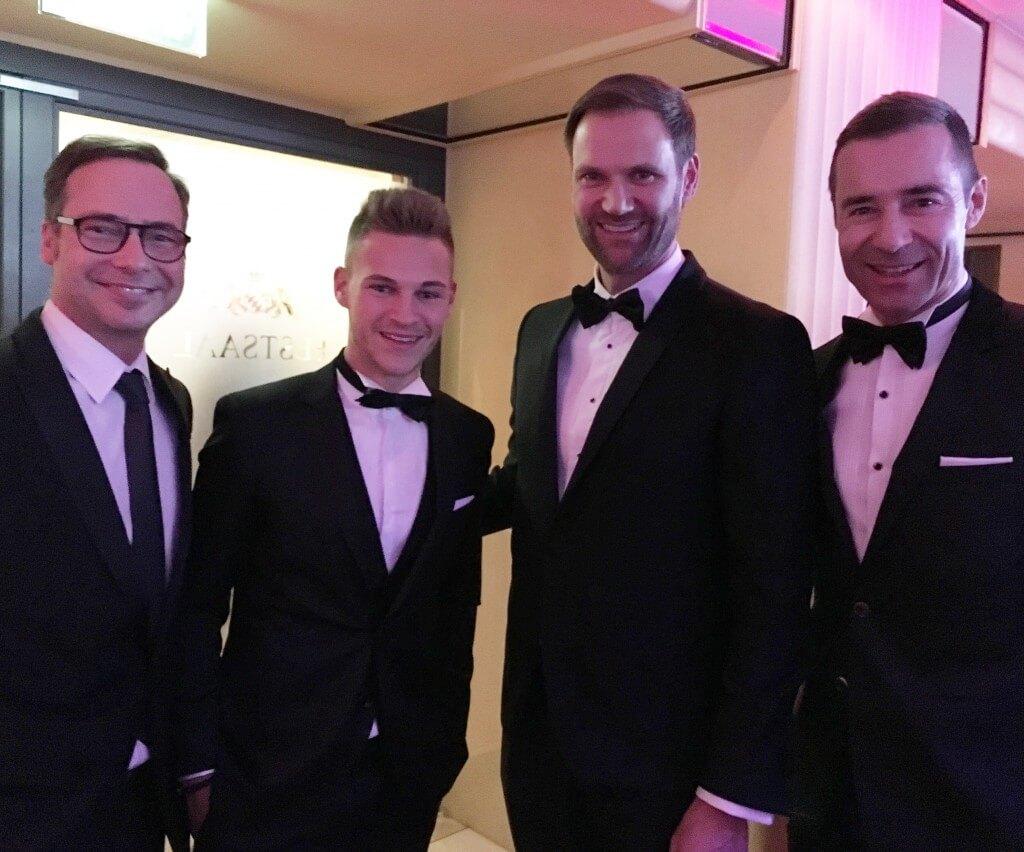 Marc Autmaring mit Joshua Kimmich, Matthias Opdenhövel und Kai Pflaume